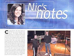 Audio Media: Nic's Notes