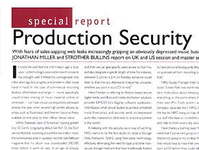 Audio Media: Special Report: Production Security