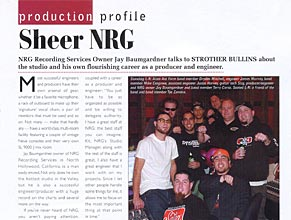 Audio Media: Production Profile: Sheer NRG