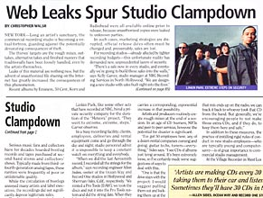 Billboard: Web Leaks Spur Studio Clampdown