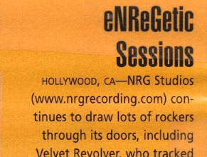 Pro Sound News: eNReGetic Sessions