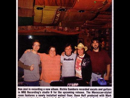 Bon Jovi (Music Connection): NRG Hosts Bon Jovi Sessions