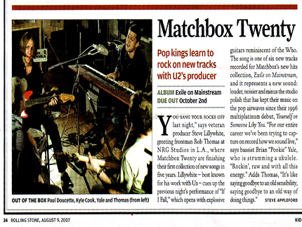 Rolling Stone Magazine: tchbox Twenty