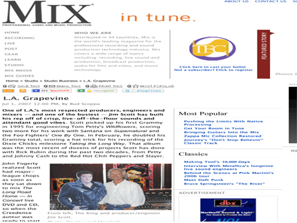 Mix Magazine Online: L.A. GRAPEVINE