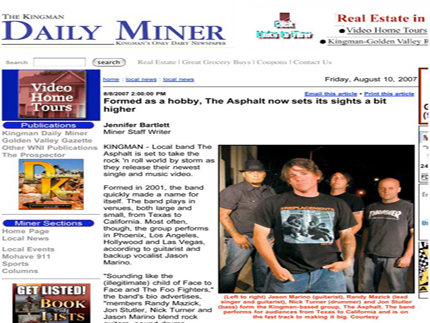 Kingman Daily Miner: Formed as a hobby, The Asphalt now sets its sights a bit higher