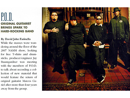 Mix Magazine March 2008: P.O.D. Original Guitarist Brings Spark To Hard-Rocking Band