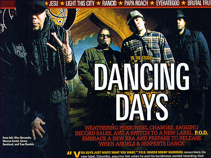 Revolver Magazine April 2008: In The Studop - POD & Papa Roach